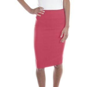 Professional Pencil Stretch Skirt 1114 Coral